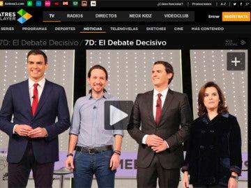 7D, El Debate Decisivo en Atresplayer