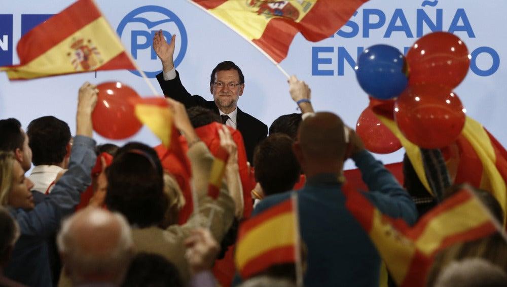 Mariano Rajoy en un mitin