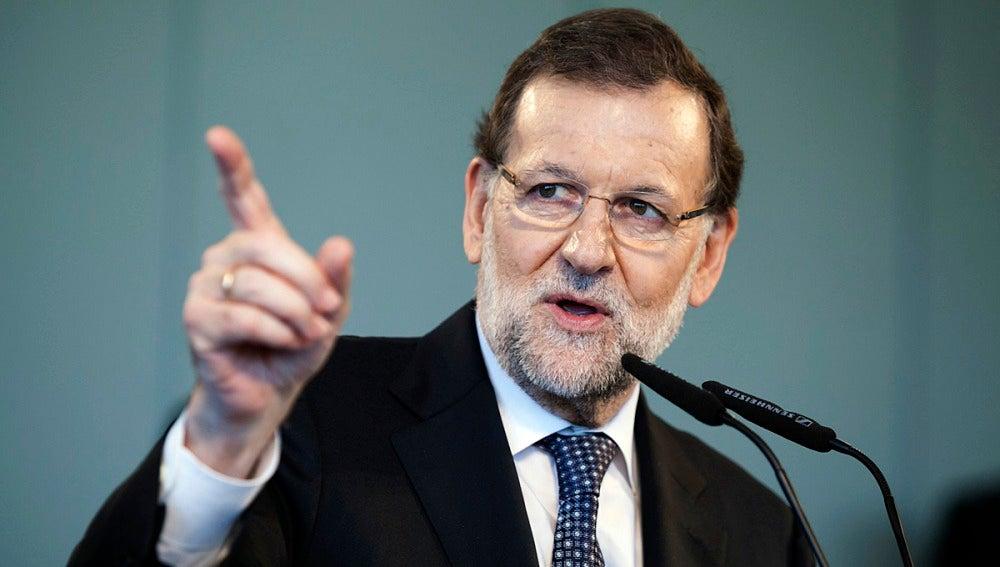 Rajoy en un mitin en Tenerife