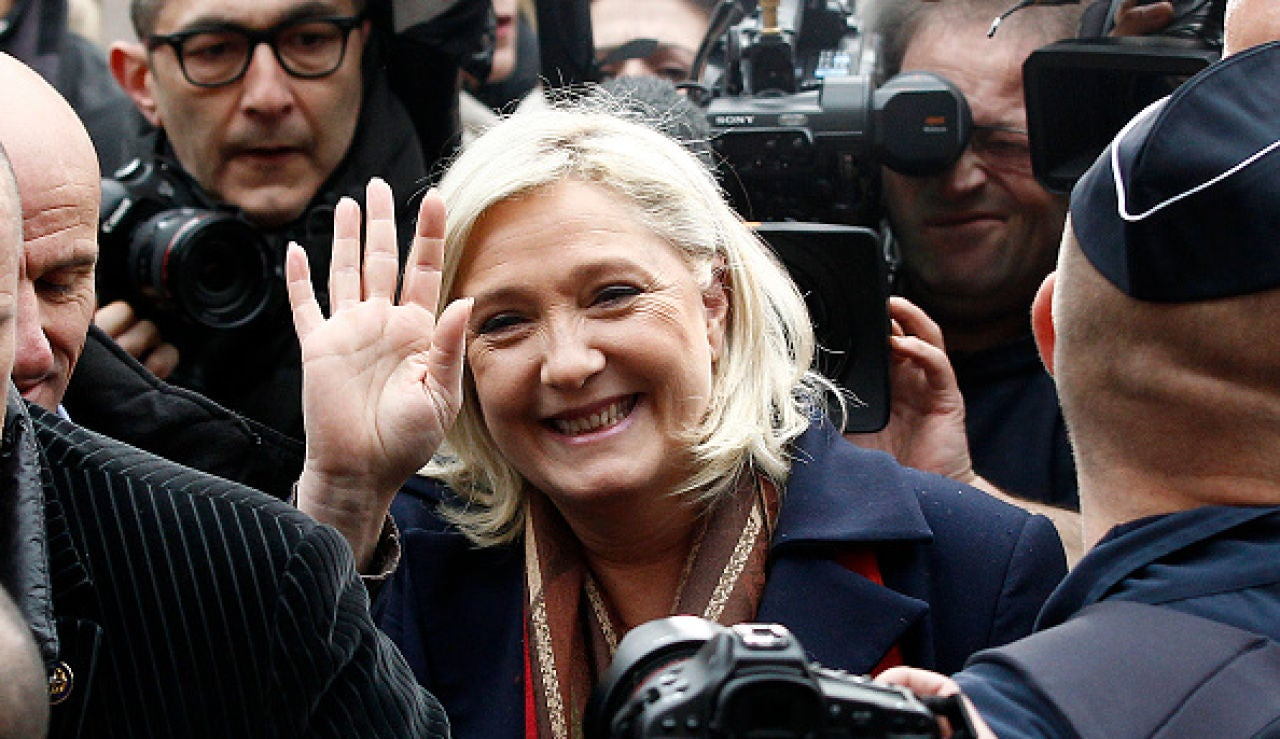 Marine Le Pen, líder del partido ultraderechista Frente Nacional