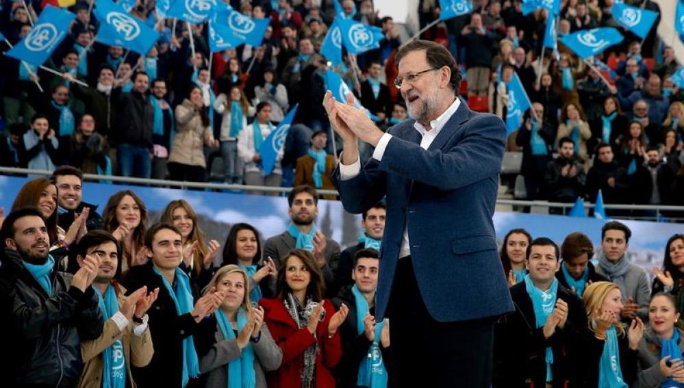 Mariano Rajoy, en un acto en Madrid
