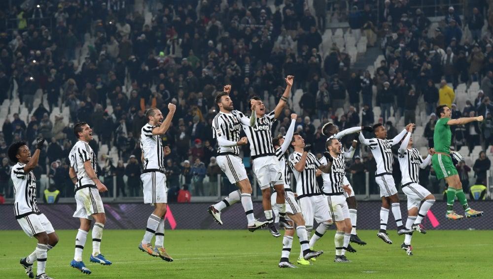 La Juventus celebra una victoria