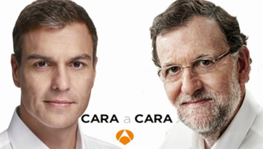 Montaje cara a cara Rajoy Sánchez