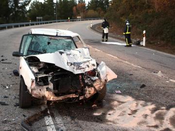 Accidente de tráfico en Covelo, Pontevedra