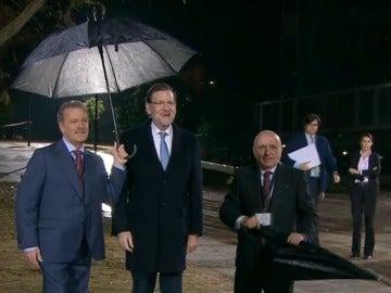 Rajoy llega a la Academia de la Televisión