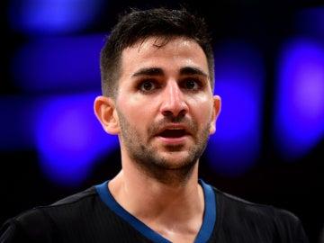 Ricky Rubio, durante un partido con los Timberwolves