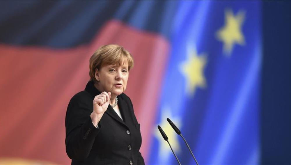 Angela Merkel, presidenta del partido Unión Cristianodemócrata (CDU)