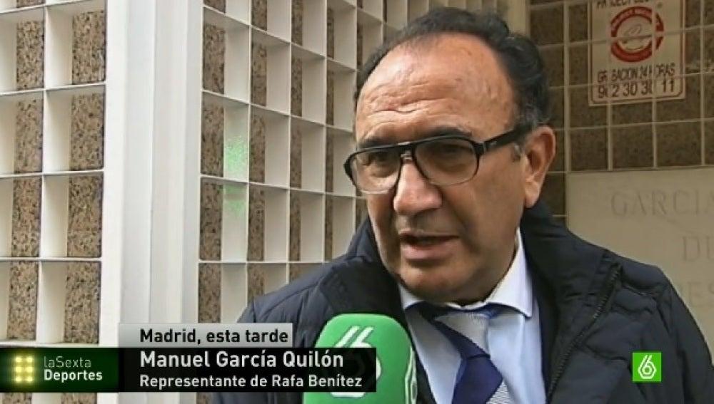 Manuel García Quilón, agente de Rafa Benítez