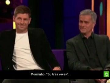 Mourinho y Gerrard, juntos en una entrevista