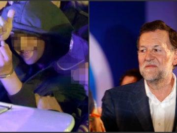 El joven que agredió a Rajoy, tras su detención en 2015 por golpear al entonces presidente del Gobierno.