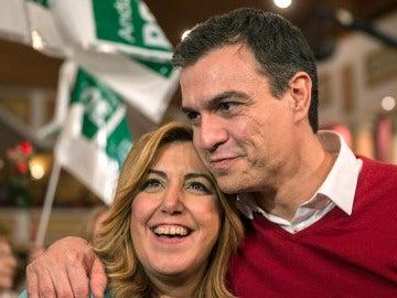 Pedro Sánchez y Susana Díaz en un acto del PSOE en Torremolinos