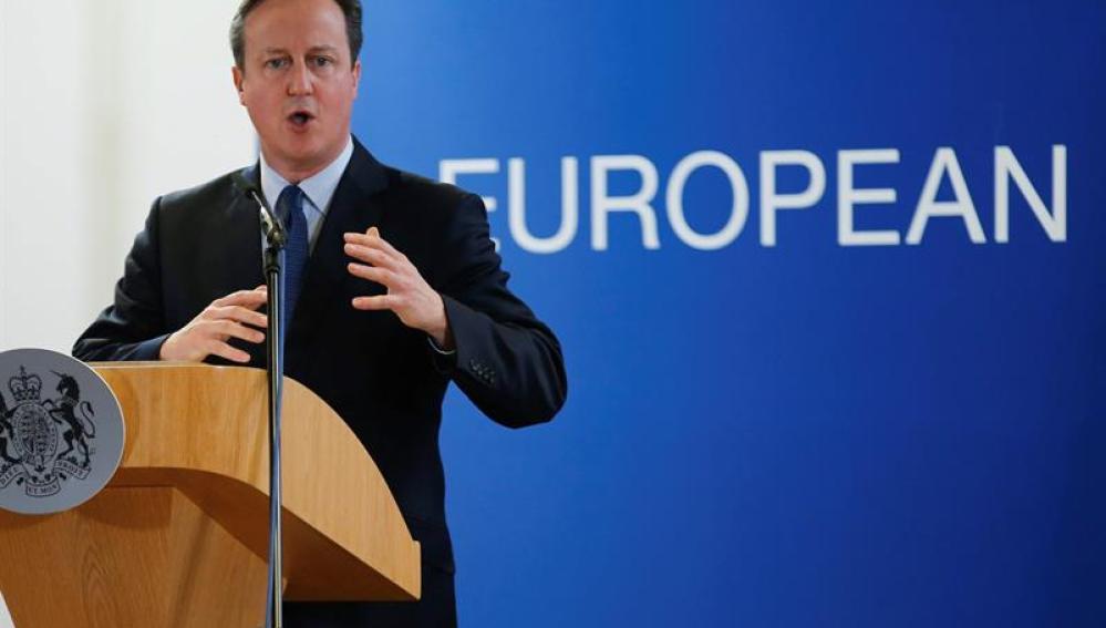 David Cameron en la Cumbre de Bruselas
