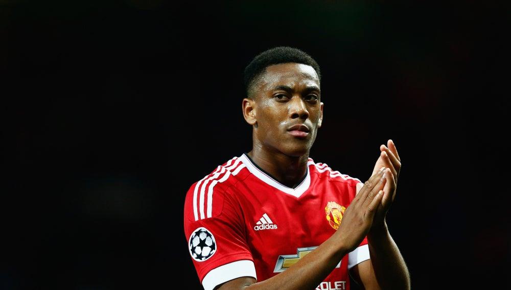Anthony Martial, jugando para el Manchester United