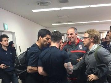 Leo Messi es escupido por un aficionado del River Plate