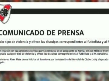 Comunicado de River Plate