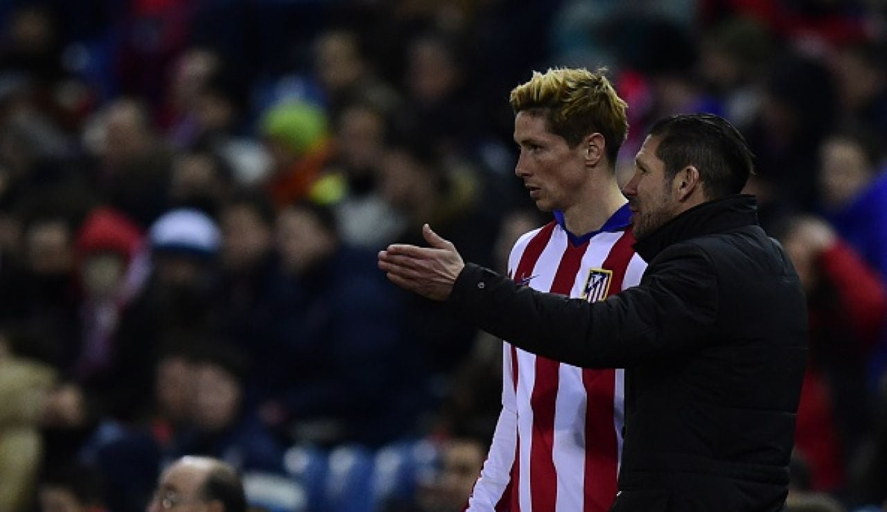 Simeone y Fernando Torres