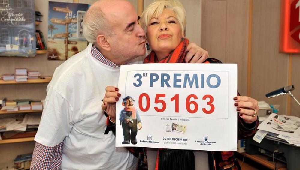 El punto de venta de lotería situado en un estanco de Albacete