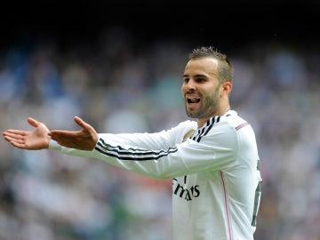 Jesé Rodríguez gesticula durante un partido