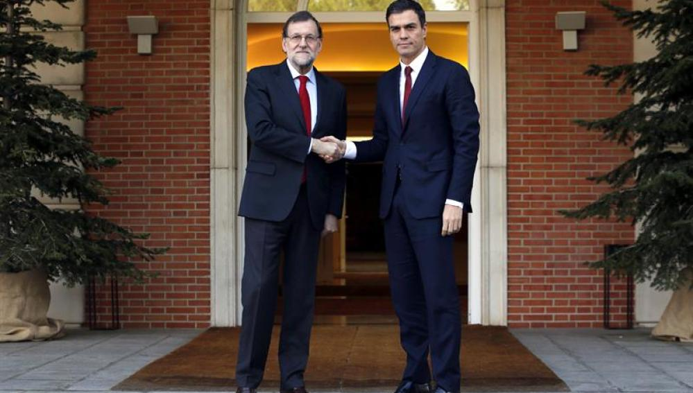 Reunión de Rajoy y Sánchez en Moncloa