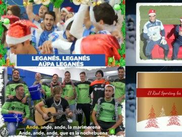 Los equipos de fútbol nos desean una feliz Navidad