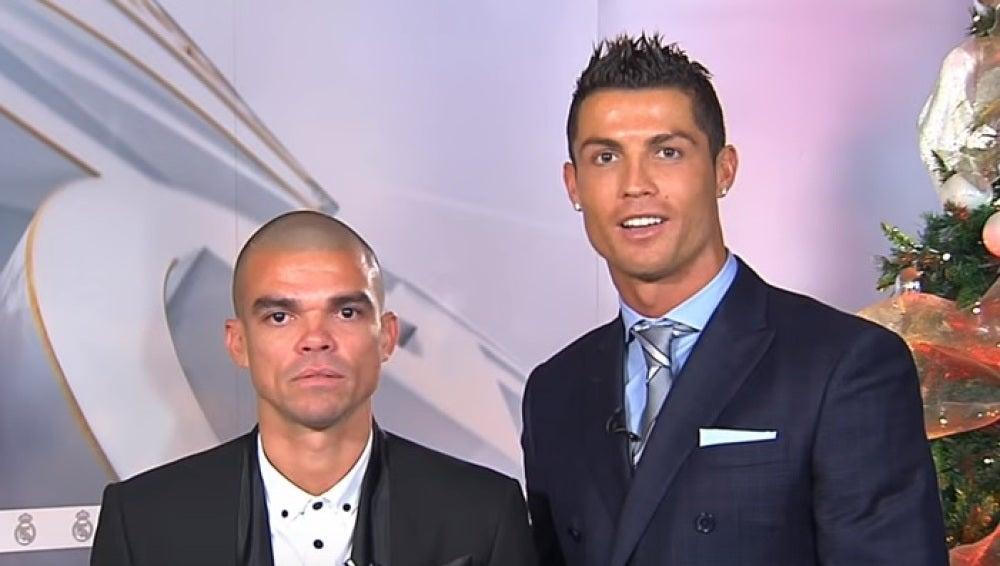 Cristiano y Pepe felicitan la Navidad