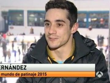 Javier Fernández, campeón del mundo de patinaje sobre hielo