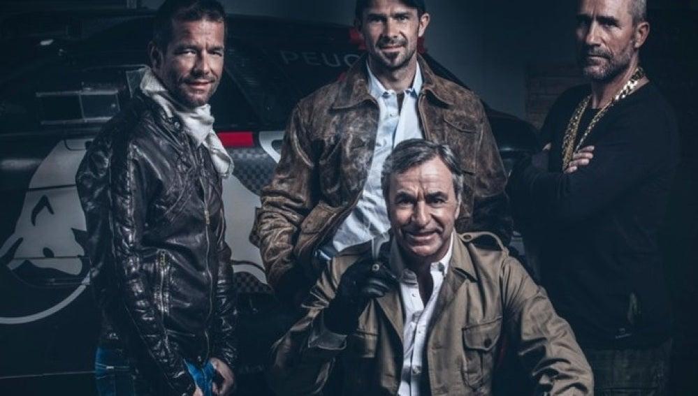 El equipo de Peugeot en el Dakar 2016