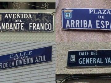 Calles con nombres franquistas en Madrid