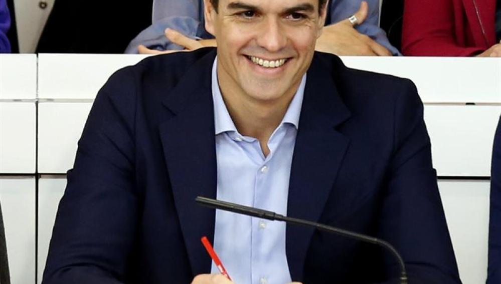 Pedro Sánchez durante el Comité Federal del PSOE