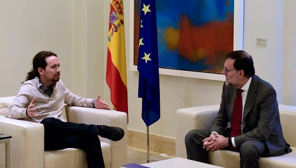 Mariano Rajoy y Pablo Iglesias durante su reunión