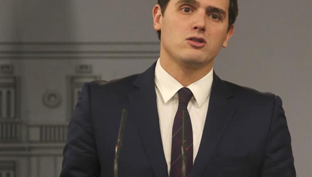 Albert Rivera tras su reunión con Mariano Rajoy