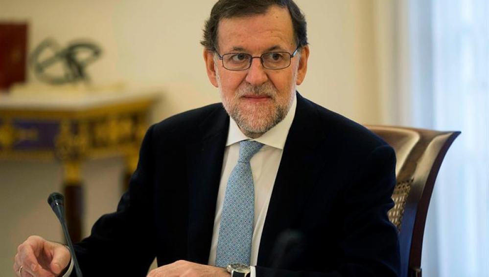 Mariano Rajoy durante el Consejo de Ministros