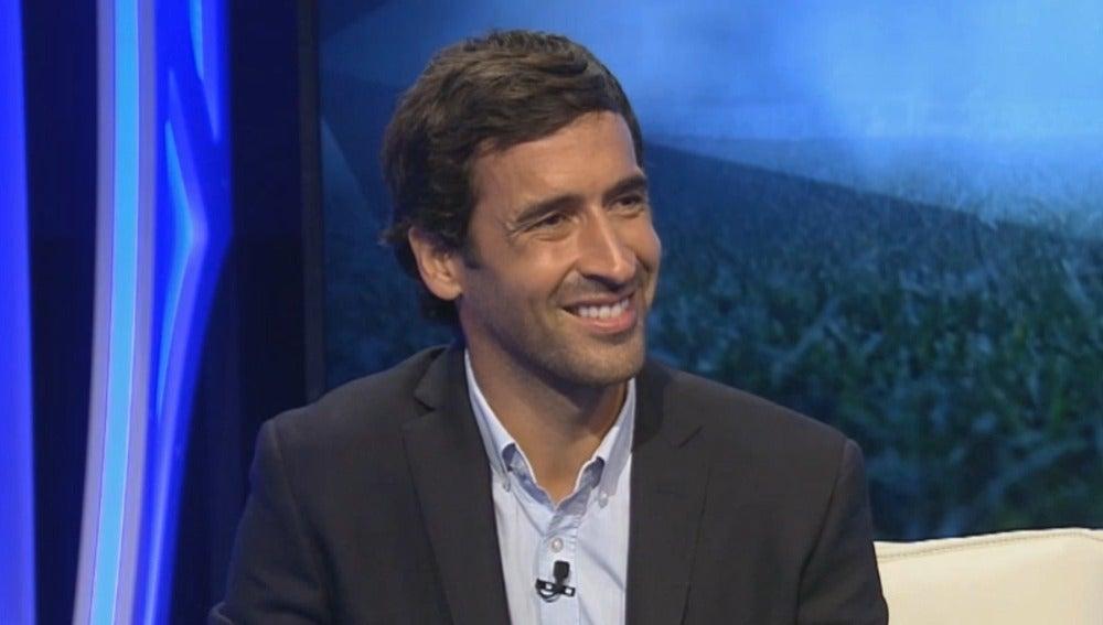 Raúl González, durante la entrevista