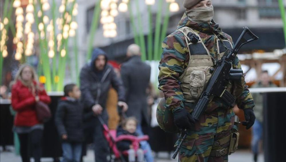 Militar en Bruselas