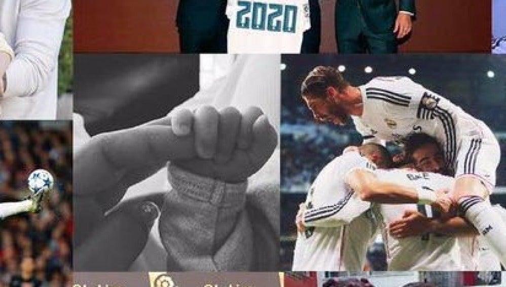 El montaje de Sergio Ramos con la foto del hijo de Messi
