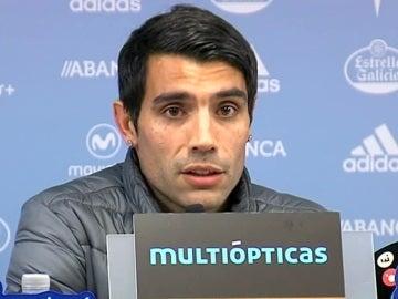 Augusto Fernández, en la rueda de prensa