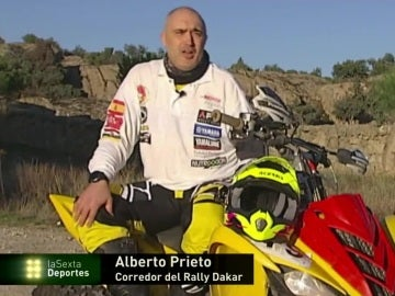 Alberto Prieto, corredor del Rally Dakar