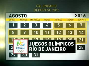 El calendario de los Juegos Olímpicos de Río de Janeiro