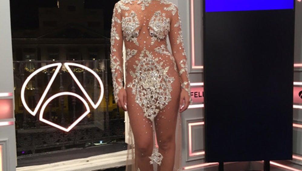 Cristina Pedroche con un espectacular vestido de trasparencias