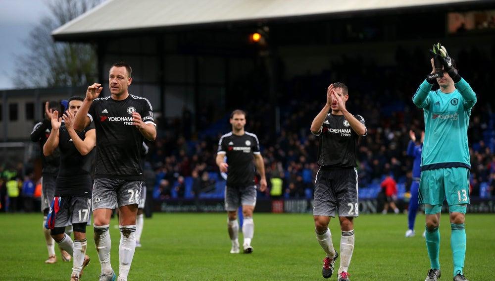 Los jugadores del Chelsea celebran el triunfo frente al Crystal Palace