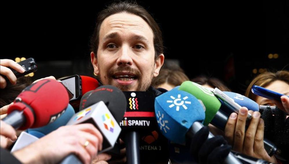 Pablo Iglesias ante los medios