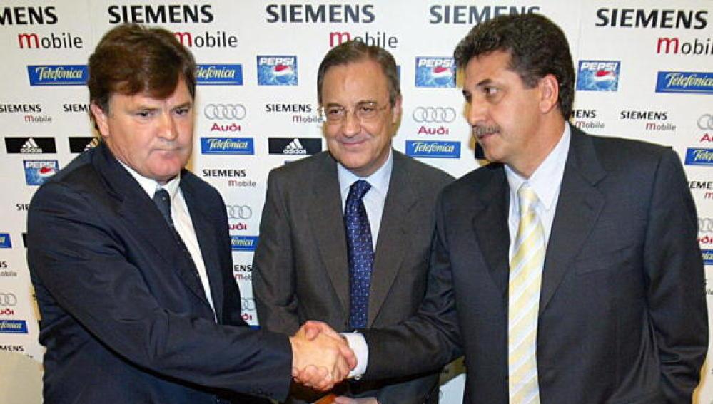 Florentino, con Camacho y García Remón