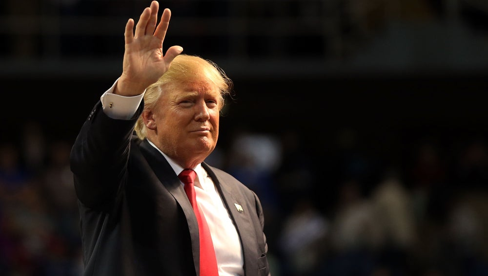 El precandidato republicano, Donald Trump