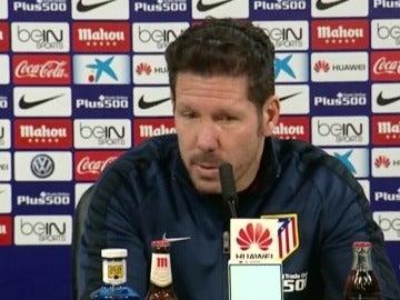 Simeone hablando sobre la destitución de Rafael Benítez