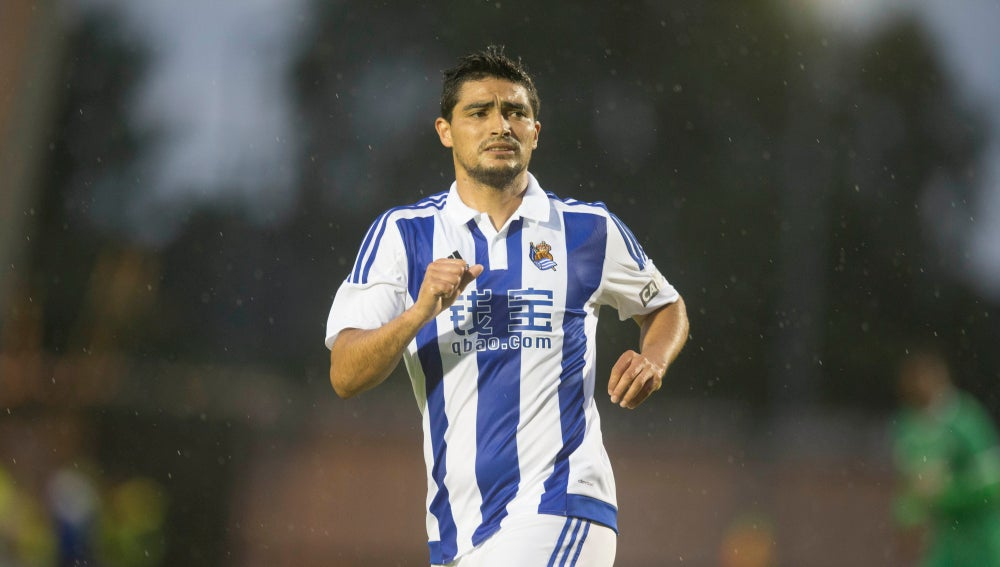 El Chory Castro durante un partido con la Real Sociedad