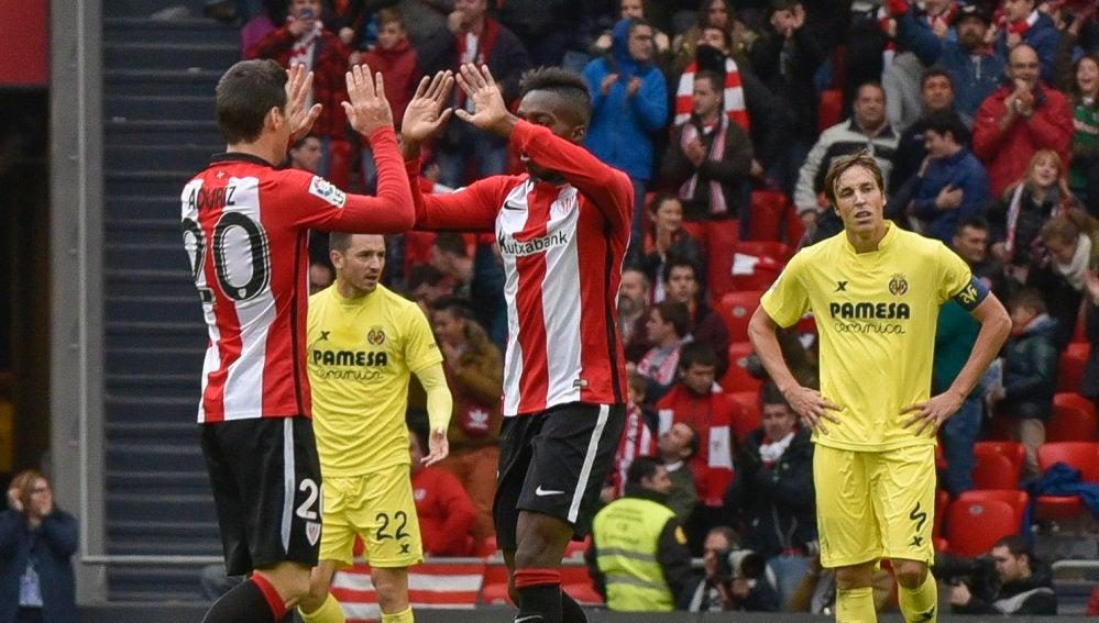 El Athletic celebra el gol del empate