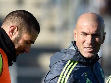 Zidane y Benzema