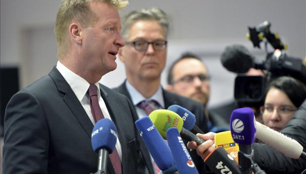 El ministro de Renania del Norte-Westfalia, Ralf Jäger,