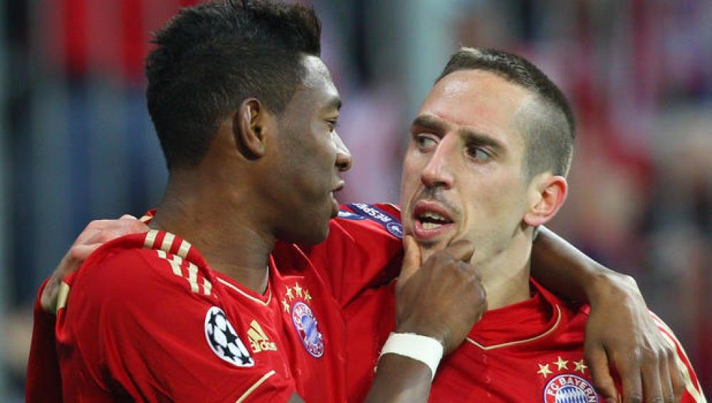 David Alaba y Franck Ribery