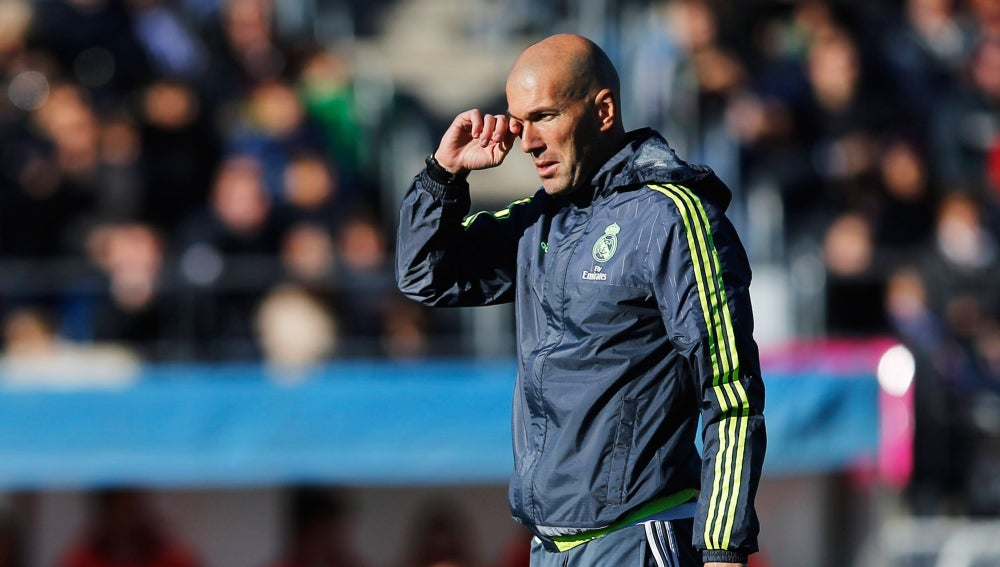 Zidane, durante el entrenamiento del Real Madrid